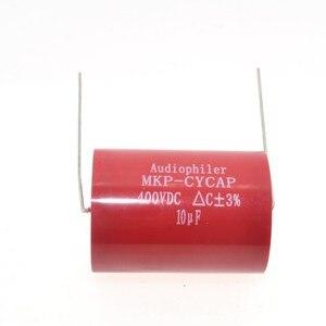 Image 3 - Бесплатная доставка 10 шт. Audiophiler Axial MKP 10 мкФ 400VDC HIFI DIY аудио класса конденсатор для гитарных усилителей