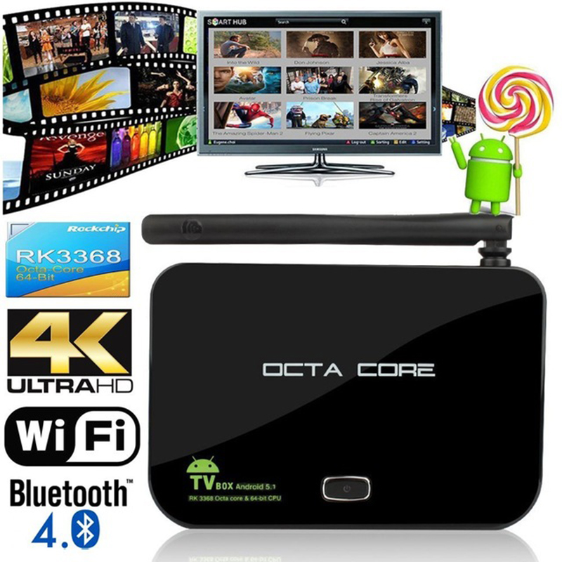 RK3368 TV Box Z4 Android 5.1 Octa Core 2GB 16GB Bluetooth 2.4/5G Dual Wifi 3D Smart Media Player 4K H.265 Android TV Set Top Box zidoo x6 pro octa core smart android 5 1 tv box hd 4k 3d 2gb 16gb h8 m8s network media player hdmi 2 0 bluetooth 4 0 dual wifi