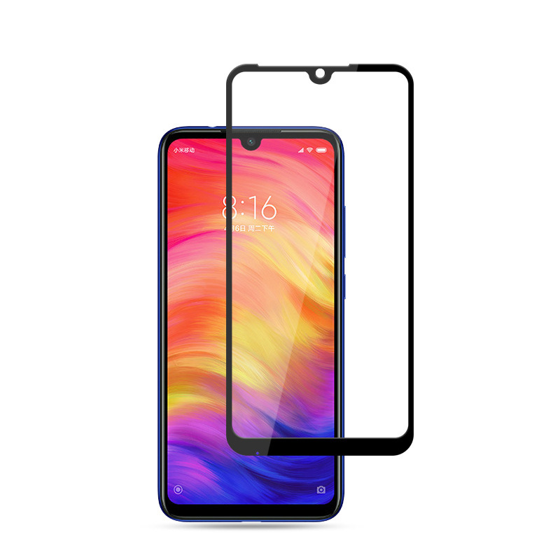50pcs/lot 5D Full Covered Tempered Glass For Xiaomi Redmi Note7 Note 7 Full Glue Screen Protector without package-in Phone Screen Protectors from Cellphones & Telecommunications    1