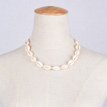 Handmade Jewelry Natural Shell Cotton Thread Chain Necklace Choker Cute Shells Clavicle Necklaces For Women Wedding Gifts