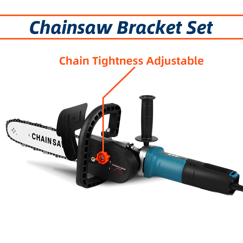 Chainsaw Bracket Parts Change Angle Grinder Into Chain Saw,Wood Cutting Electric Saw 11.5inch 29cm Blade DIY Power Tool chain
