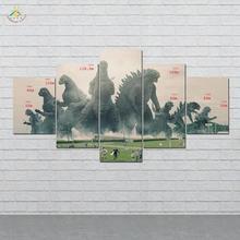 дешево!  Годзилла Размеры Wall Art HD Отпечатки На Холсте Живопись Модульная Картина И Плакат Холст Картины