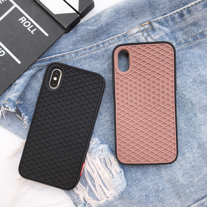 quality design b0b8a 03550 Hot Street Trend VANS Waffle Brand Soft Silicon Cover Iphone 6 6S Plus 7  7Plus 8 8Plus X Grid Pattern Sport Phone Cases