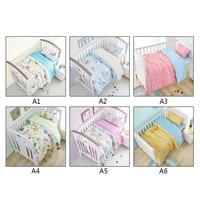 MrY 3 Pcs Set Baby Bedding Set Including Duvet Cover Pillowcase Bed Sheet Pure Cotton Baby Crib Set