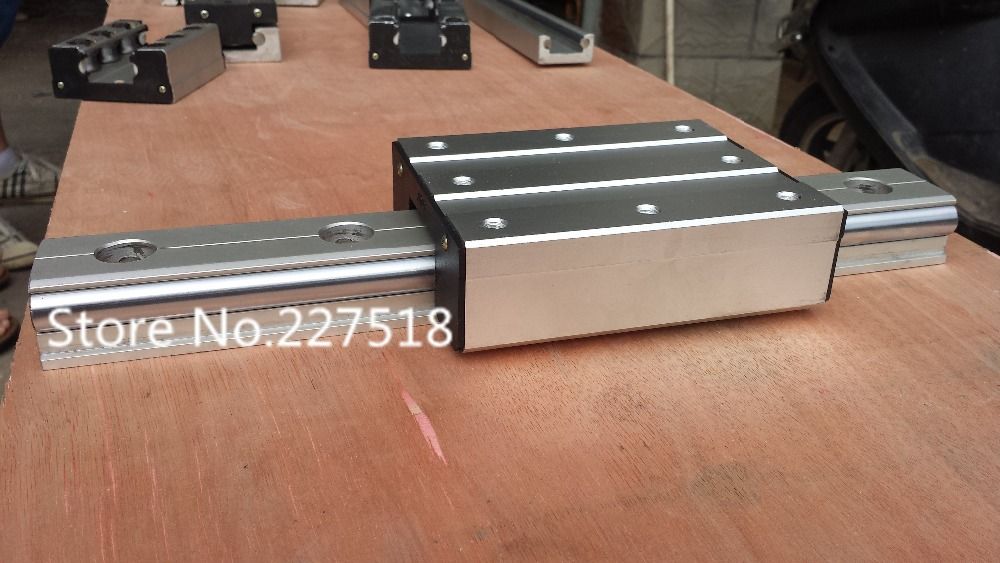 High speed linear guide roller guide external dual axis linear guide LGD12 with length 650mm with LGD12 block 100mm length