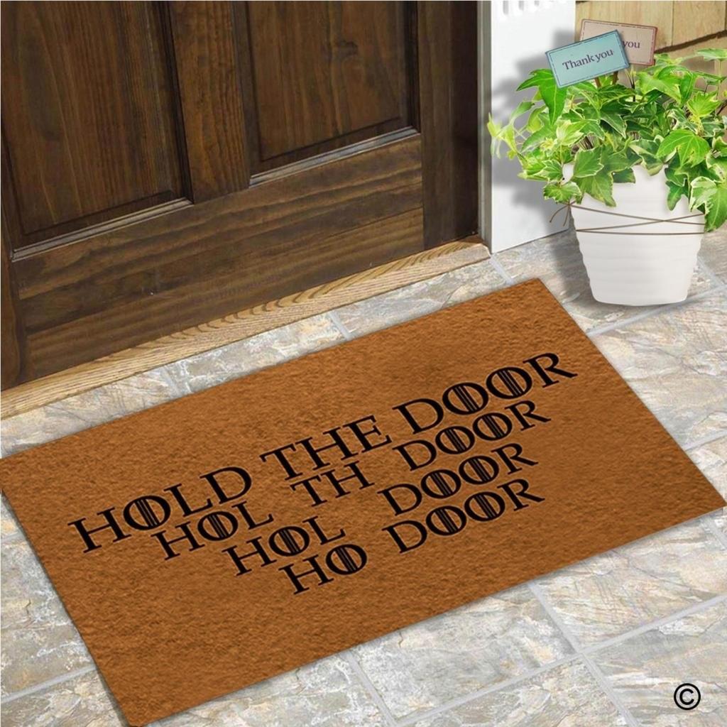 Doormat Funny Entrance Mat Hold The Door Indoor Decorative Doormat Floor Mat