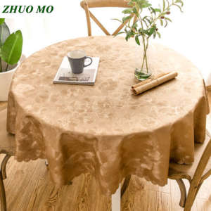 Tablecloth Waterproof Decoration Kitchen-Accessories Round PVC Restaurant