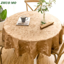 PVC Oilproof Tablecloth Waterproof Table Cloth Kitchen accessories decoration restaurant Dining Cover Round Tablecloths