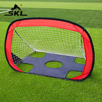 SKL 2 in 1 Foldable and Portable Soccer Net Goal Set Quick Up Goal Pop Up Soccer Goal for kids (43.3 L X 31.5 W) Football Goal