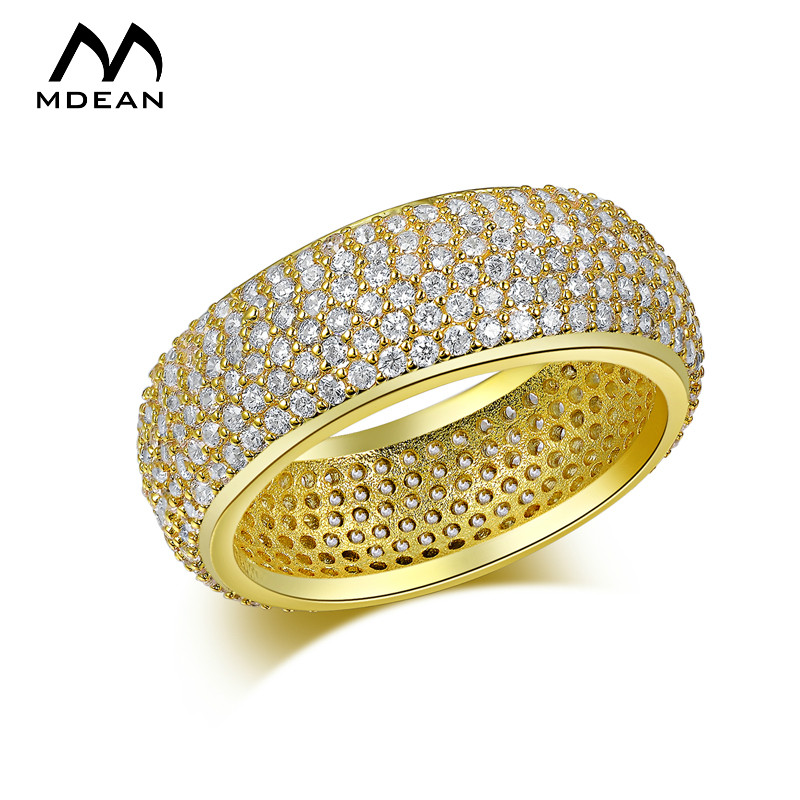 MDEAN Fashion Gold Color Rings CZ Jewelry Trendy Engagement Accessories Wedding Bague for Women MSR195 все цены