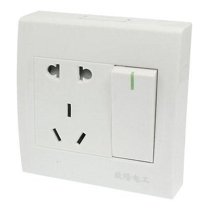US AU EU Socket Screws Fixed Single Switch Wall Mount Plate AC 250V 10A us au eu plug seat socket 2 gange on off switch wall mount plate ac 250v 10a
