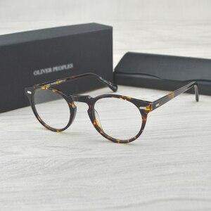 Image 1 - チャシュマヴィンテージ光学ガラスフレームアセテート OV5186 眼鏡オリバー老眼鏡女性と男性の眼鏡フレーム