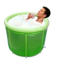 2019 Fashion Double Inflatable Bathtub Adult Folding Bath Tub Barrel Adult Tub Inflatable Adults Furnishing Inflatable Bathtub