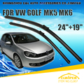 "Escovas Para VW VOLKSWAGEN GOLF MK5 MK6 (2006-2012) 2008 2010 Windscreen Windshield Wiper Blade Wiper 19 ""+ 24"" Carros estilo"