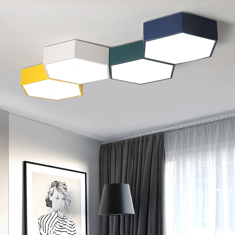 Us 63 76 24 Off Diy Led Honeycomb Ceiling Lighting Lamps For The Living Room Office Chandeliers Study Children In