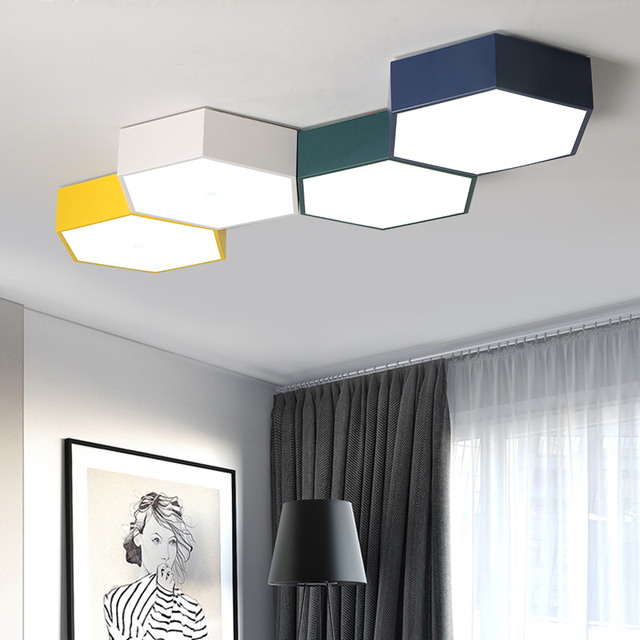 Diy Led Honeycomb Ceiling Lighting Lamps For The Living Room Office Chandeliers
