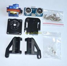 1sets SUltrasonic Module HC-SR04 + 1pcs 9G SG90 servo motor +1pcs FPV dedicated nylon PTZ for arduino kit