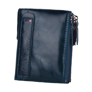 Klsyanyo Genuine Leather ManWomen Wallet Purses neutral  Rfid Money Bags Wallet With Ladies Card Coin Small Purse wallet