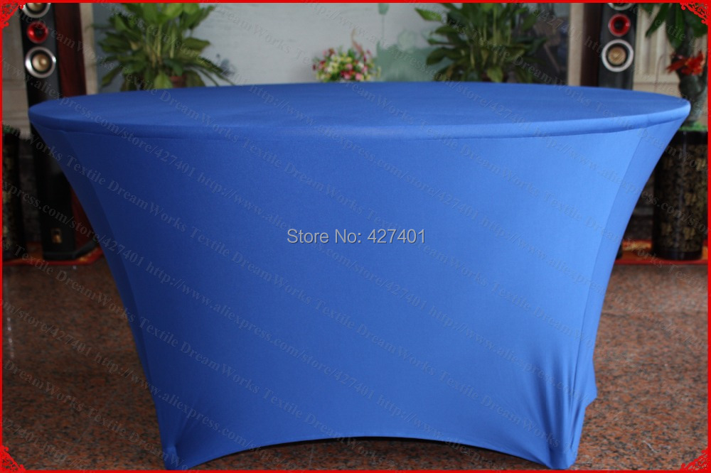 Blue Lycra/Spandex Table <font><b>Cover</b></font>/Tablecloth/Table Runner/<font><b>Chair</b></font> <font><b>Covers</b></font> for Wedding/Hotel/Banquet/Party/Home decor&textile