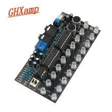 GHXAMP LM3915 Kits de nivel de audio de doble canal, 10 indicadores, MP3, PC, altavoz para teléfono, espectro de música con activado por voz