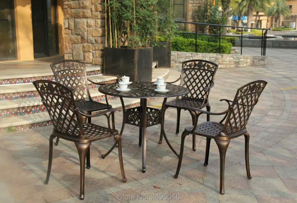 Cast Aluminum Round Patio Dining Table