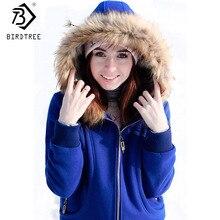 Новая зимняя Женская толстовка с капюшоном и меховым воротником больших размеров s, женская утепленная ветрозащитная бархатная куртка,, размер США S-3XL
