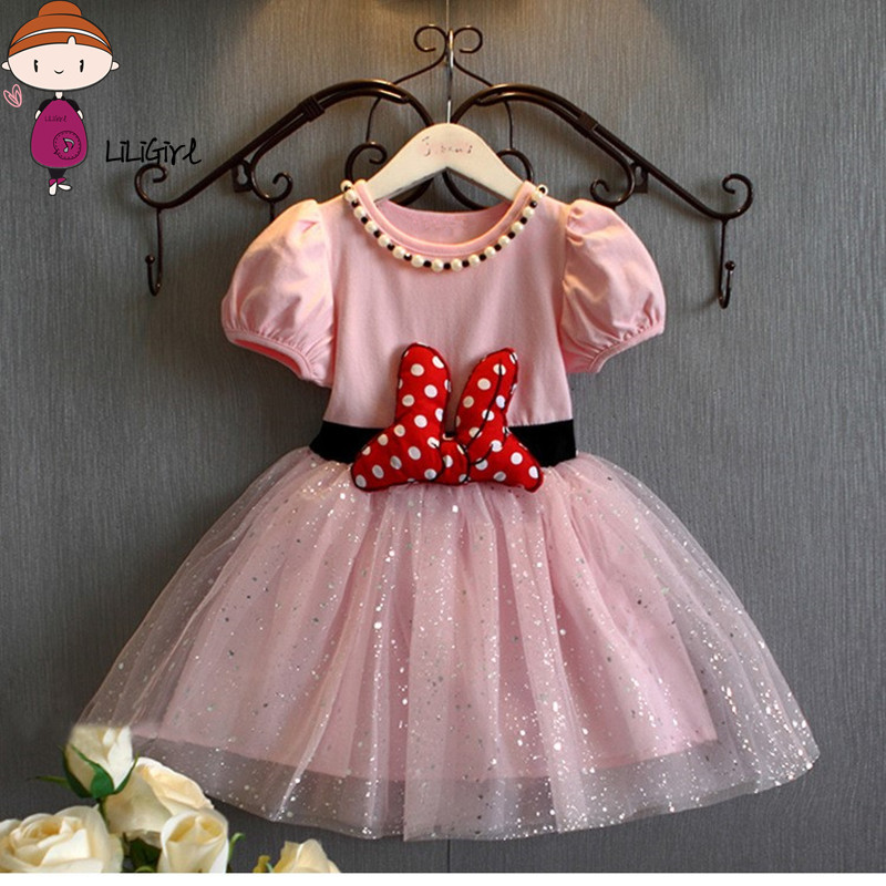 Summer Baby Girls Dress Minnie Mouse Dresses For Girls