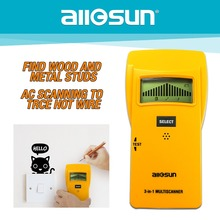 ALL SUN 3In1 Metal Detector Find Meta lWood Studs AC Voltage Live Wire Detect Wall Scanner