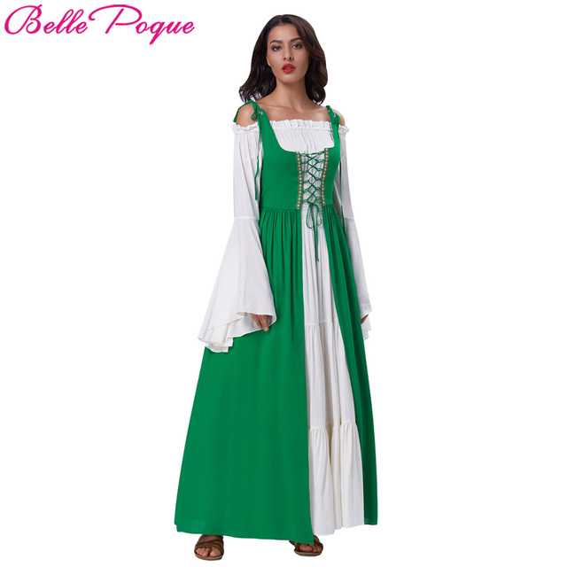 d2de89baa04 Belle Poque Retro Vintage 50s Victorian Dresses 2018 Lace up Sleeveless  Gothic Renaissance Medieval Clothing Women