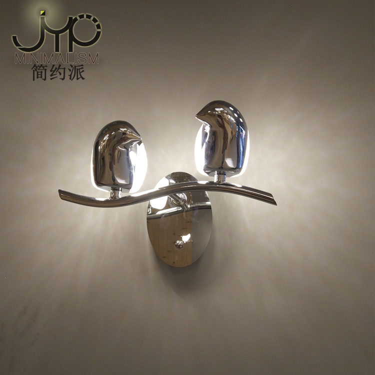 Post modern Nordic LED wall lamp bird iron bedroom bedside living room stairs aisle light