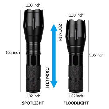 Anpro XML T6 Led Flashlight Q5 Mini Torch Lanterna Tactical Flashlight Zoomable Waterproof Protable Outdoor Camping Bike Light 3