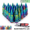 20PC Blox Racing JDM Style 50MM  Aluminum Extended Tuner Wheel Lug Nuts With Spike M12x1.25 BLOX750DJT7C-125