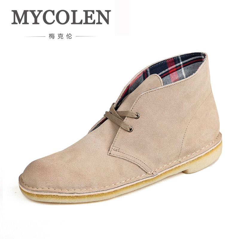 MYCOLEN New Arrivals Brand Shoe Light Men Boots Genuine Leather Ankle Boots Casual Lace-Up Men Shoes Comfort Handmade Boot desert ram brand new ankle bot lace up men s boots leather boots for men shoes casual boot male winter black white sneakers shoe