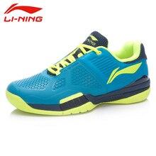 Shock-absorbant sneakers anti-slippery hard-wearing breathable tennis professional men sport li-ning shoes