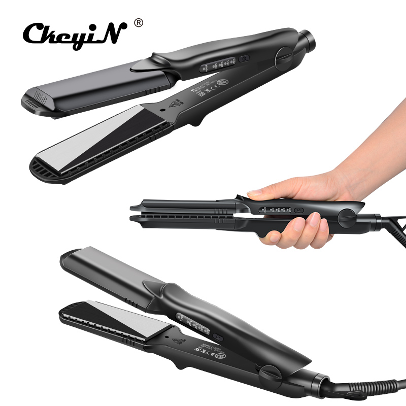 Interchangeable 4 in 1 Fast Hair Straightener Corn Wave Plate Electric Hair Crimper Large To Small Waver Corrugated Flat Iron 42