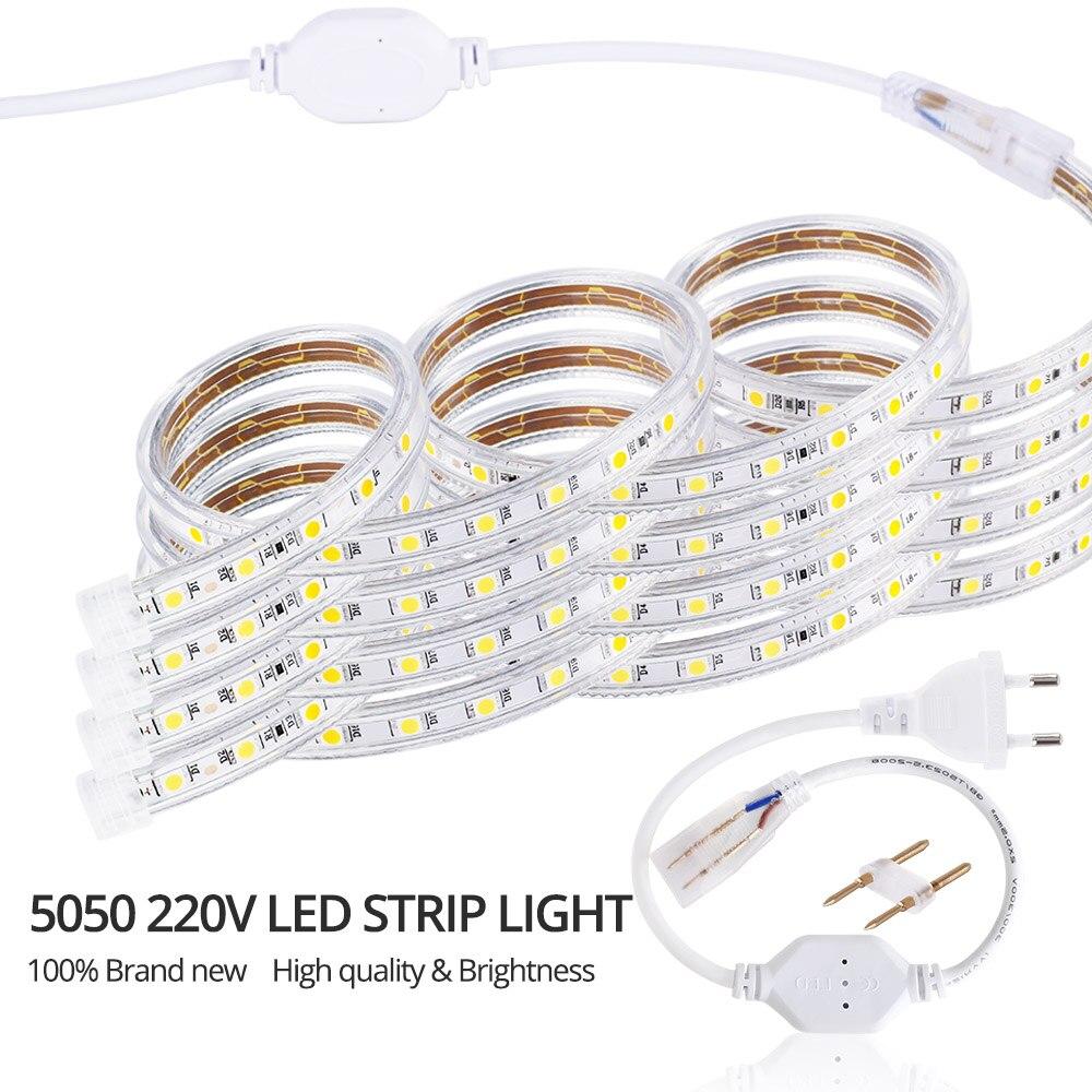 50 м рулон светодиодные полосы света 60 светодиодов/м водонепроницаемый светодиодный, неоновый свет веревки трубки можно резать гибкие полосы для внутреннее и наружное освещение Декор - 2