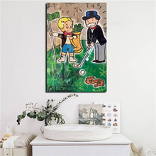 Alec Monopolies Richie Goyard Golf HD Canvas Painting Print Living Room Home Decor Modern Wall Art Oil Poster Pictures
