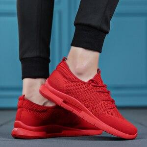 Image 4 - Weweya hafif rahat ayakkabılar erkek örgü kaliteli spor ayakkabı erkekler nefes Tenis Lace Up erkek ayakkabısı açık yürüyüş ayakkabısı