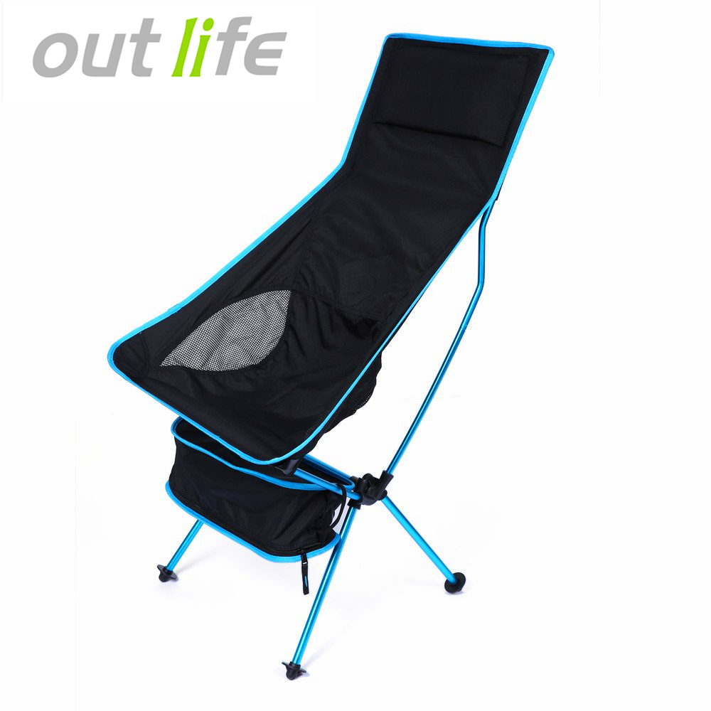 Outlife Detachable Aluminium Alloy Extended Chair Folding Fishing Chair for Fishing Camping Outdoor Activities With 3 Colors outlife new style professional military tactical multifunction shovel outdoor camping survival folding spade tool equipment