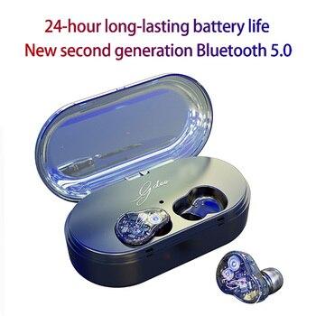 True wireless stereo Earphones deep bass sports IPX7 waterproof With microphone earplugs TWS Bluetooth5.0 touch running Headset
