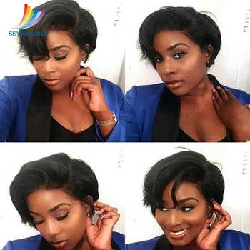 Sevengirls Malaysian Short Bob Wigs Wet And Wavy Virgin Human Hair Full Lace Wigs With Natural Hairline For Women Free Shipping - DISCOUNT ITEM  49% OFF All Category