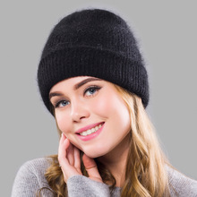 купить Winter Real Rabbit fur Beanie Hats for Women Solid hat For Women Skullies Warm Gravity Falls Cap Gorros Female Cap Bonnet Femme по цене 728.82 рублей