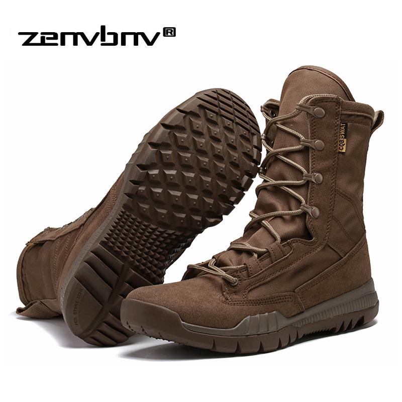 Fashion Outdoor Army Boots Men Microfiber cloth Military Boots Tactical Combat Boots Summer/Winter Desert Boots Size 38-45 fashion army boots men military boots tactical combat boots waterproof summer winter desert boots size 35 46 ids658