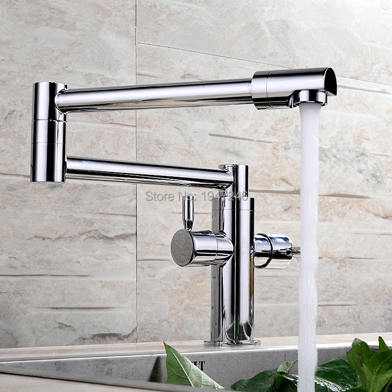 Здесь продается  High Quality 100% Solid Brass Chrome Finish Extended Hot and Cold Kitchen Sink Mixer Tap Wall Mounted Pot Filler Faucet  Строительство и Недвижимость