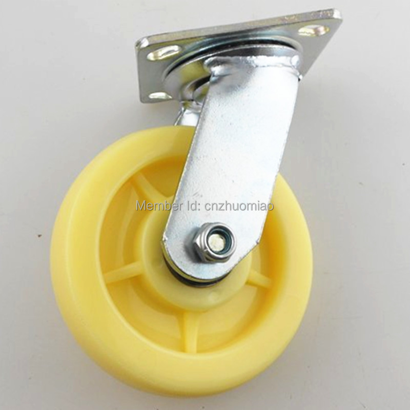 1pcs 6 inch Heavy Duty Swivel Type Nylon Wheel Caster 1 pcs plastic swivel 5 inch light duty pu caster directional lock medical caster