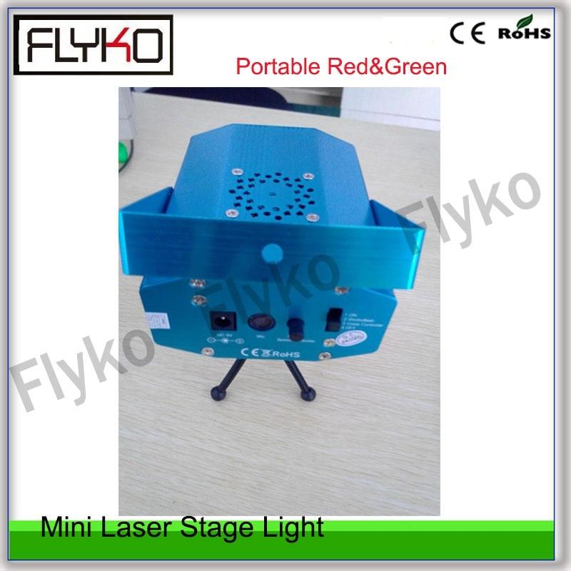 Mini distance de tir de lumière d'effet de spectacle de Laser rouge et vert portatif jusqu'à l'éclairage d'étape de 100 M pour la décoration d'étape