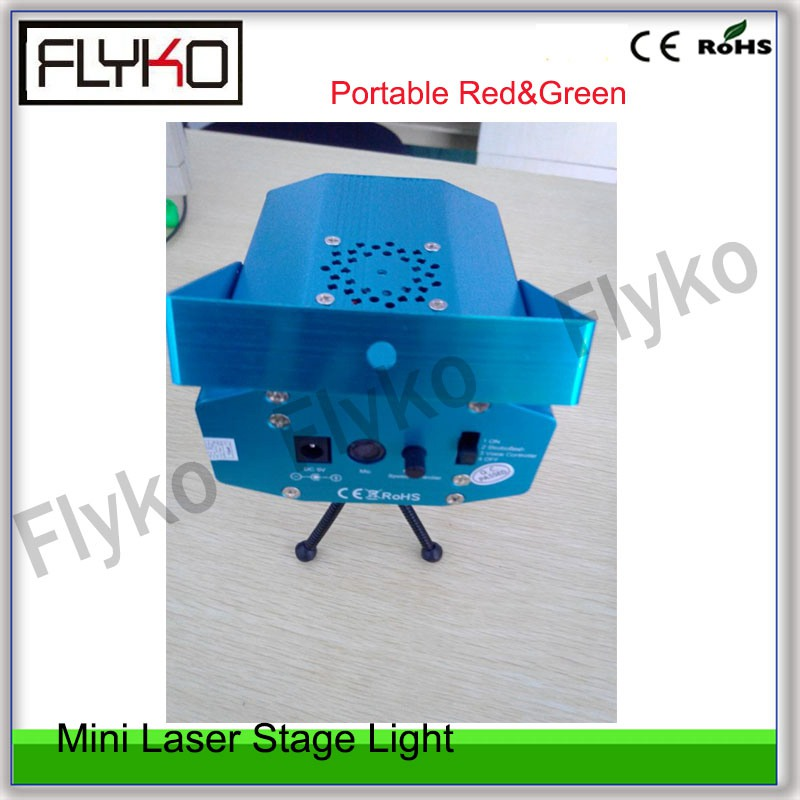 mini portable Red&Green Laser show effect light shoot distance up to 100M Stage Lighting for stage decoration