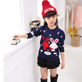Spring Autumn and Winter Sweater Girl T-shirt Shirt Sweater Knit Thickened Double Rabbit Baby