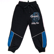 Boys black and blue Sport Trousers Printed All Cotton Children Spring Summer New wear