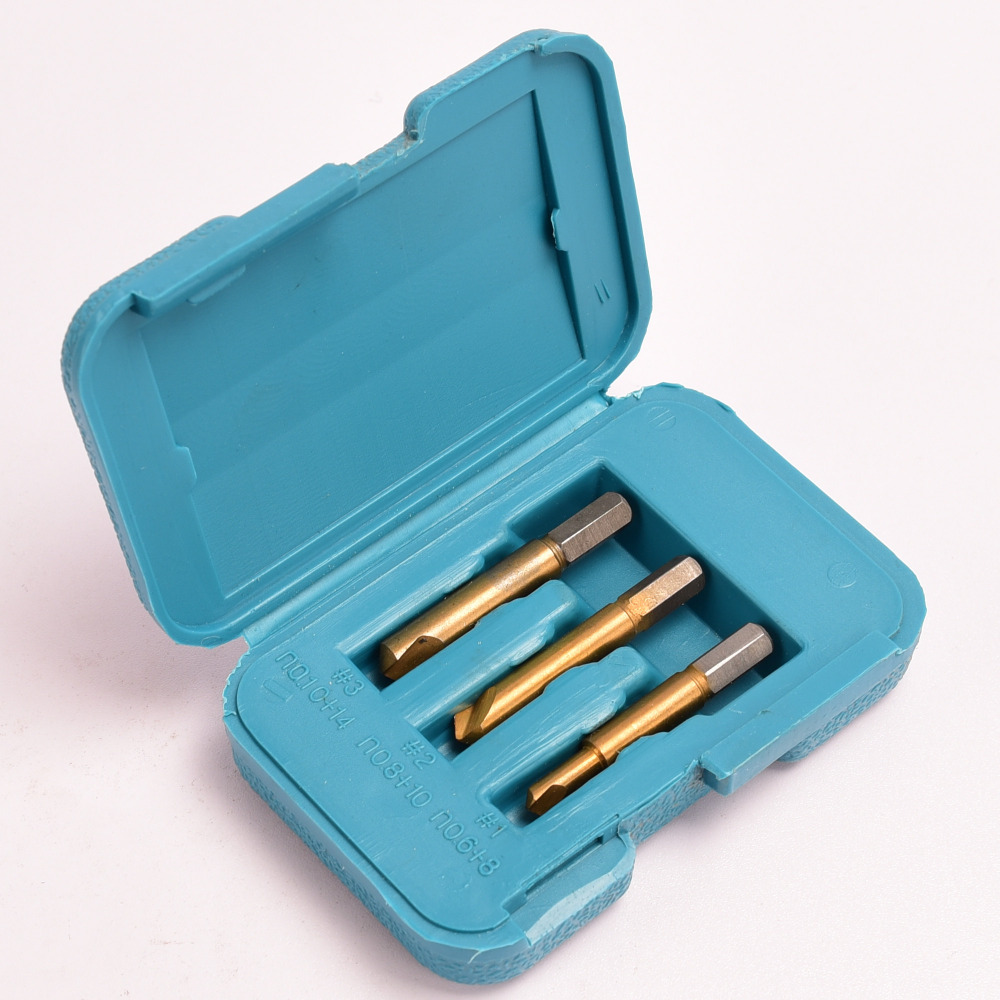 US $3 76 |3 pcs Ti Titanium Coated HSS Rigid Screw Extractor Set Easy Out  Removal Broke Bolts Screws Drill Bits Woodwork Power Tool W/Case-in Drill